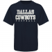 Dallas Cowboys Metallic Practice T-Shirt - Navy Blue