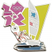 London 2012 Olympics Mascot Sailing Pin