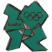 London 2012 Olympics Logo Pin - Green