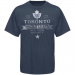 Old Time Hockey Toronto Maple Leafs Five For Fighting Igloo T-Shirt - Navy Blue