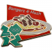 London 2012 Olympics Bangers and Mash Icon Pin