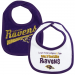 Gerber Baltimore Ravens 2-Pack Dribbler Bibs - Purple/White