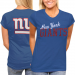 New York Giants Ladies Game Day T-Shirt - Royal Blue