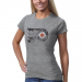 Old Time Hockey Philadelphia Flyers Ladies Five For Fightin' Blasted Tri-Blend T-Shirt - Ash