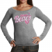 Chicago Bears Ladies Breast Cancer Awareness Tri-Natural Long Sleeve T-Shirt - Charcoal