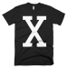X (Malcom X Retro Tee) - Black / XL