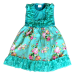 TURQUOISE AND FLORAL LACE DRESS - S/2T