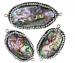 Abalone Rhinestone Clay Pave Connector