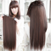 Natural Hair Extension Long Straight Synthetic Hair Clip In Hair Extensions
