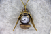 Jewelry Vintage Charm Snitch Wings Quartz Pocket Watch Necklace