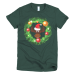 Ladies' Moose in a Wreath Short sleeve t-shirt - Forest / S