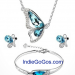 3 PC Crystal Butterfly Fashion/Costume Jewelry Set