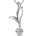 *NO* Evening: Feather & Crystal Pendant