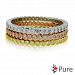 Pure Ecojewellery Pure 3 Piece Tri-Tone Stackable Cz Eternity Ring Set In Sterling Silver Silver 6