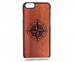 MMORE Wood Compass Phone case - Phone Cover - Phone accessories - Samsung Galaxy S6 / Black
