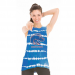 Official NCAA Boise State Broncos BSU Buster Bronco Women's Bamboo Muscle Tee - Royal Blue Bamboo / Small