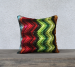 High Chroma Flame Throw Pillow - Canvas / Double-sided print