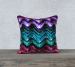 High Chroma Indigo Throw Pillow - Velveteen / White