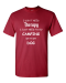 I Don't Need Therapy I Just Need To Go Camping With My Dog Adult Unisex T-Shirt - 2XL / Crimson