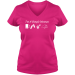 I'm A Simple Woman, I like Beer, Beaches, Pets and Camping. Woman's V Neck T-Shirt. - S / Cyber Pink