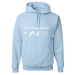 I'm A Simple Woman, I Like Wine, Beaches, Pets and Camping Hoodie - 3XL / Light Blue