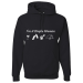I'm A Simple Woman, I Like Wine, Beaches, Pets and Camping Hoodie - 3XL / Black