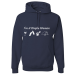 I'm A Simple Woman, I Like Wine, Beaches, Pets and Camping Hoodie - 3XL / Navy