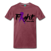 Fight For A Cure - Men's Premium T-Shirt - heather burgundy / XL
