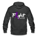 Fight For A Cure - Unisex Fleece Zip Hoodie - charcoal gray / S