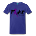 Fight For A Cure - Men's Premium T-Shirt - royal blue / 5XL