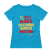 911 is NOT a Customer Service Hotline Ladies' Scoopneck T-Shirt - Black / XS