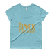 Black Excellence (Gold) Ladies' Roadtrip Tee - Heather Grey / M