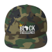 Black Excellence Wool Blend Snapback - Heather Grey/ Red