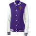 Bossed Up Womens Letterman - Purple/White / S