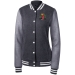 Bossed Up Womens Letterman - Graphite Heather/Vintage Heather / S
