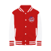 SELFIE REVOLUTION COLLECTION Varsity Jacket - Fire Red / White / L