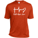 Teeze Designs Dri-Fit Moisture-Wicking T-Shirt Faith - Forest Green Heather / M