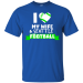 Teeze Designs T-Shirt Love Wife Seattle Football - Royal / S