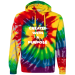 Tie-Dyed Pullover Hoodie Purpose - SpiderRoyal / 3XL