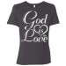 GOD IS LOVE Ladies' Relaxed Jersey Short-Sleeve T-Shirt - Dark Grey Heather / XL