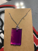 Small Rectangle Necklace - purple
