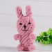 Hand-Knitted Dog Toys with Multiple Animal Shapes - rabbit / One Size
