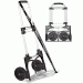 Portable Slide-Flat Sample & Luggage Cart, 275 lb Capacity, Handle, Chrome With Black Trim
