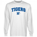 Memphis Tigers White Logo Arch Long Sleeve T-shirt-