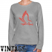 Hartford Hawks Ladies Ash Distressed Logo Vintage Long Sleeve Classic Fit Tee