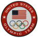USA Olympic Committee Round Logo Pin-
