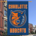 "Charlotte Bobcats 44"" x 28"" Navy Blue Team Logo Applique Banner"