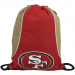 San Francisco 49ers Cardinal-Gold Axis Drawstring Backpack