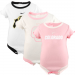 Nike Colorado Buffaloes Infant Girls Pink-White 3-Pack Creeper Set