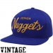 Mitchell & Ness Denver Nuggets Royal Blue Solid Script Snapback Adjustable Hat